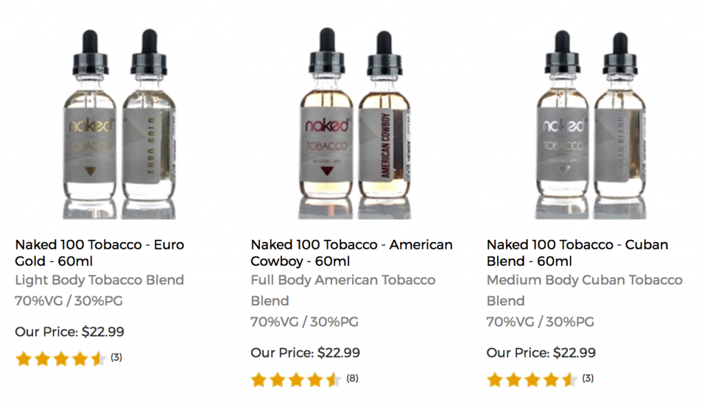 Picture of Vapor DNA E-juice flavors