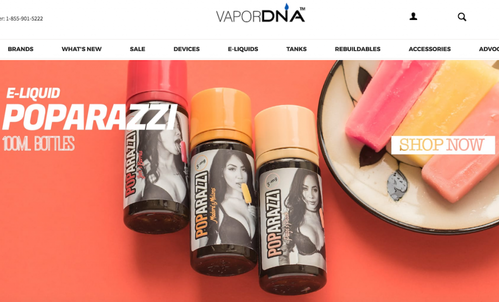 a picture of vapor dna website