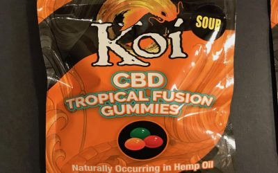 a picture of koi cbd gummies sour